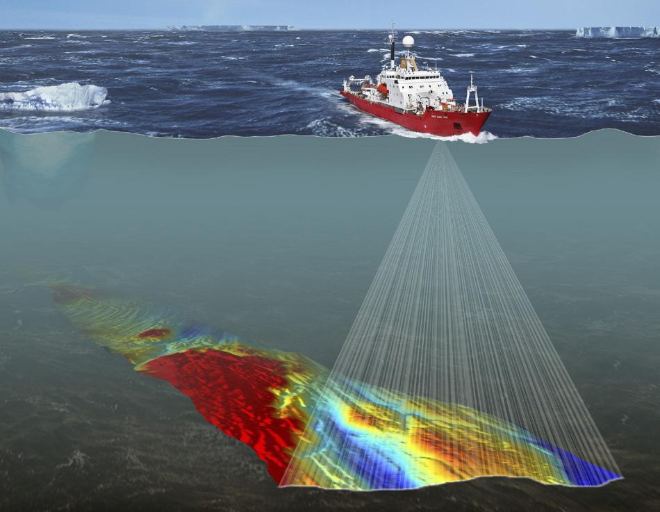 Fernerkundungsdaten, die im Laufe von Jahrzehnten kollaborativer Forschung in der Antarktis gesammelt wurden, können zusammengetragen werden, um Karten der physikalischen Umgebung des Meeresbodens in Südgeorgien zu erstellen. (Bild: British Antarctic Survey)