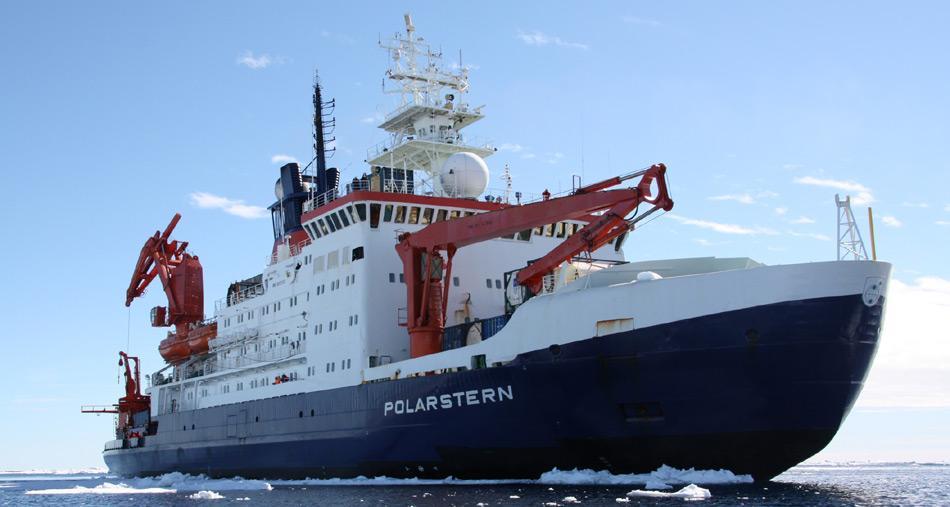 Der derzeitige Forschungseisbrecher «Polarstern» in der Antarktis. Foto: Folke Mehrtens, AWI