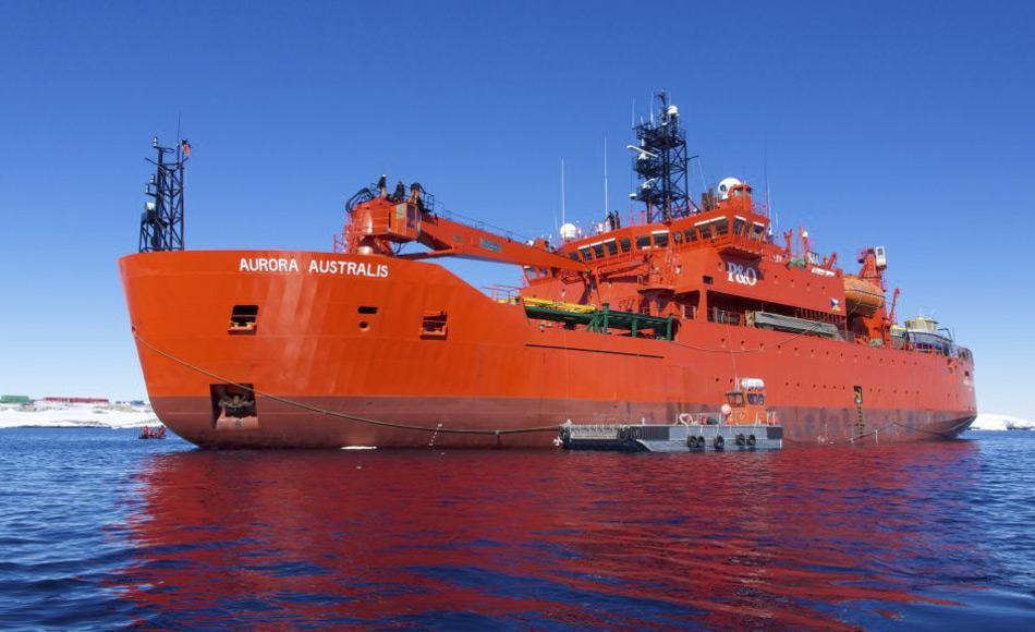 Wissenschaftler auf dem australischen Eisbrecher Aurora Australis sammeln Krill für Klimaforschung aus dem Südpolarmeer. (Foto: Tony Fleming)