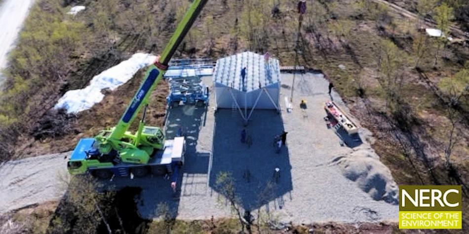 Das neueste Modul der Anlage wurde im vergangenen Juni in Skiboth aufgestellt. Bild: NERC